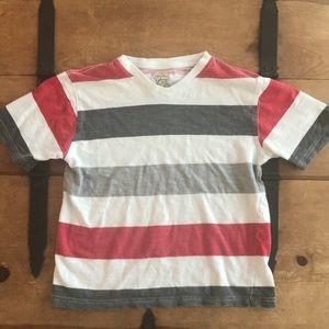 Faded Glory Boys Size Small Striped Tee Shirt
